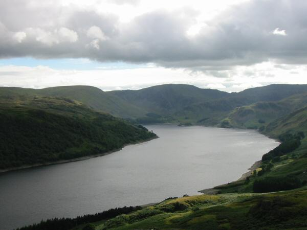 Haweswater from the summit of Four Stones Hill