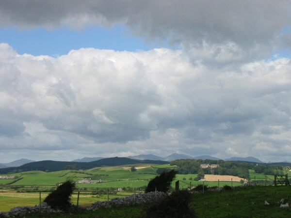 The view north to the Coniston fells