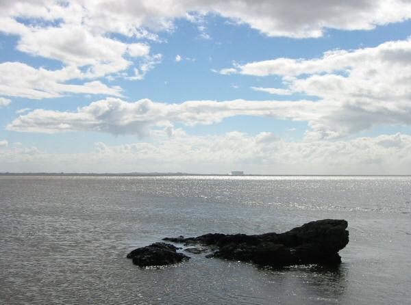 Heysham Power Station across Morecambe Bay from Humphrey Head Point
