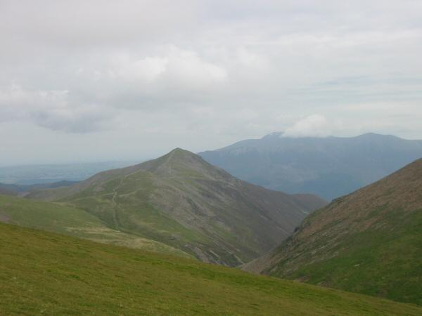Grisedale Pike with Skiddaw beyond
