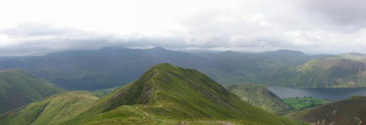 Whiteless Pike with the High Stile ridge behind from Thirdgill Head Man