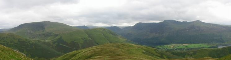 Robinson, High Snockrigg, Whiteless Breast and the High Stile ridge from Whiteless Pike