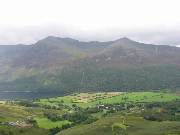 High Stile and Red Pike seen across the Buttermere valley