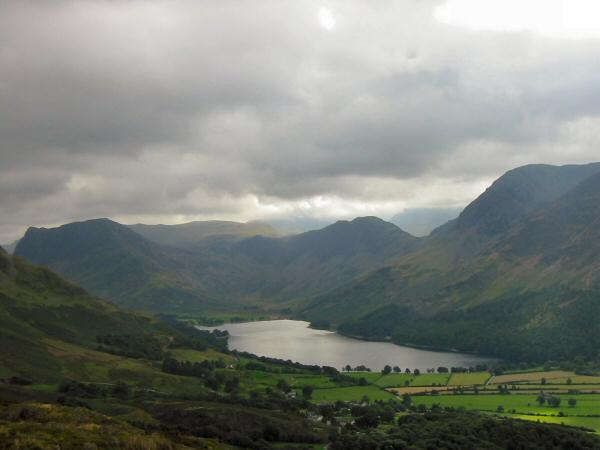 Fleetwith Pike, Haystacks and Buttermere from Rannerdale Knotts