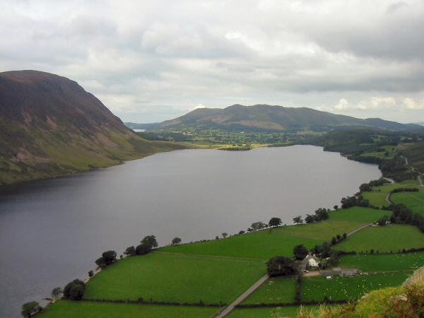 Mellbreak, Crummock Water and Low Fell from the route off Rannerdale Knotts