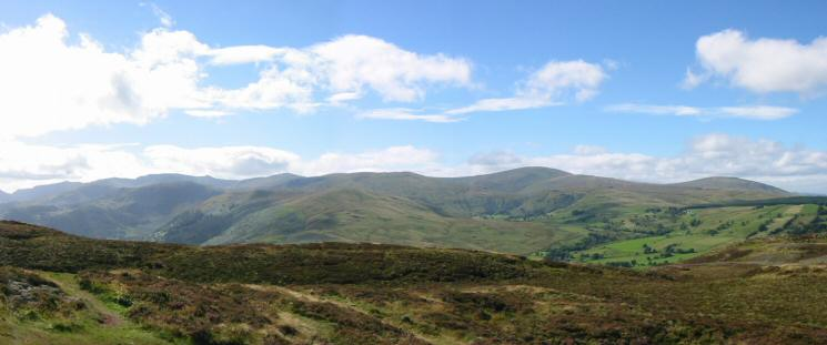 Helvellyn and the Dodds from Gowbarrow Fell summit