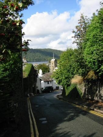 Looking back down Brantfell Road to St Martin's Church