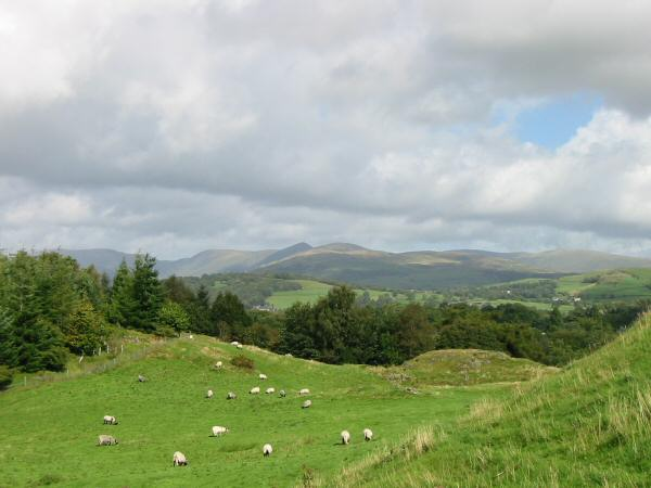 The Ill Bell ridge from Brant Fell
