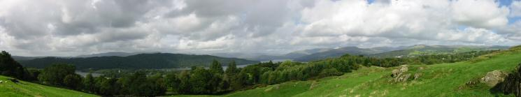 Northwesterly panorama from Brant Fell