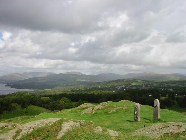 The view north from Brant Fell's summit