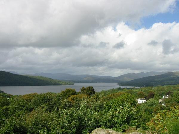 Windermere from the view point at Biskey Howe