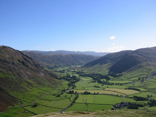 Looking down on Great Langdale from The Band
