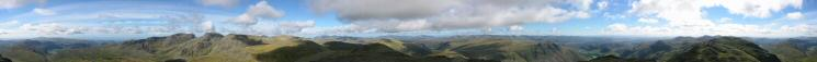 360 Panorama from Bowfell's summit