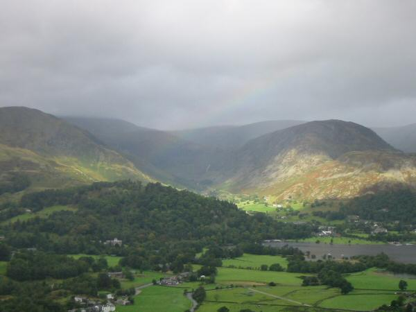 Glenridding at the head of Ullswater from below Boredale Hause