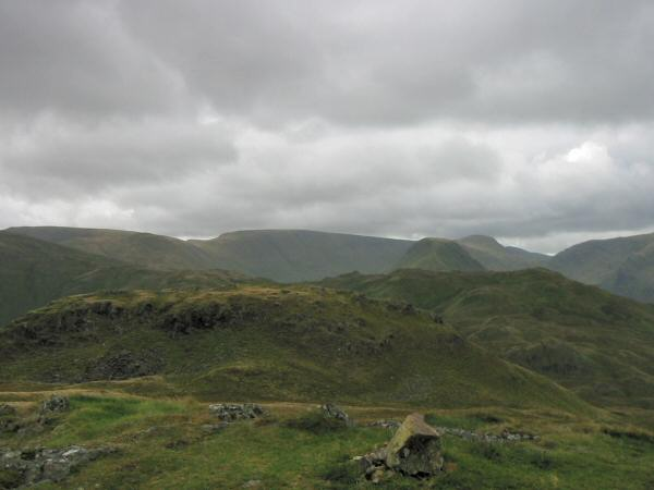 View south from the northern and higher top of Angletarn Pikes