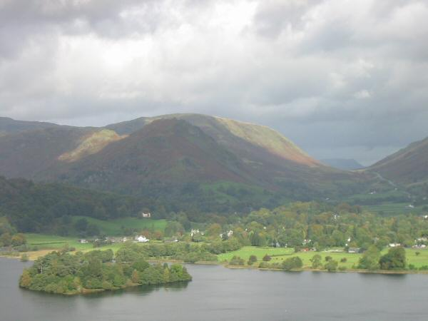 Grasmere village and Dunmail Raise