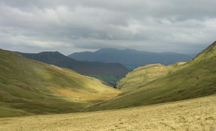 Causey Pike and Skiddaw from Littledale Edge