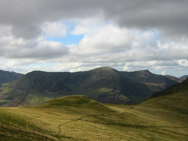 High Crag, High Stile and Red Pike from the ascent of Hindscarth