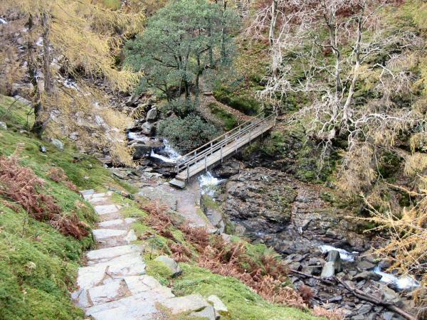 Footbridge across Tilberthwaite Gill