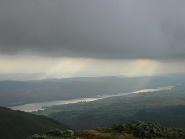 Coniston Water from Black Sails' summit