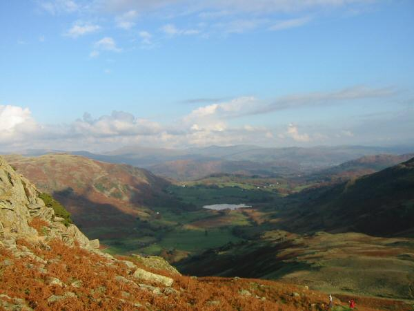 Little Langdale Tarn from the descent