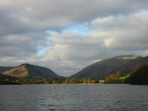 Helm Crag and Seat Sandal seen across Grasmere