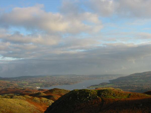 Windermere from Loughrigg Fell's summit
