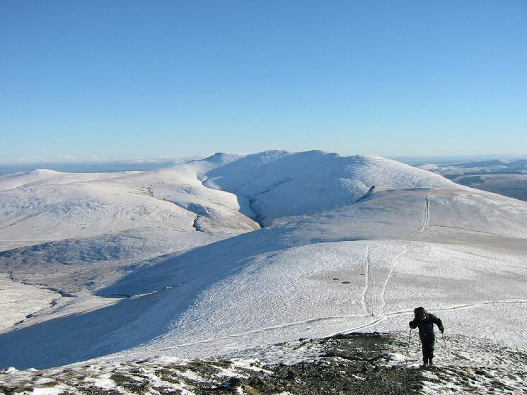 Blencathra from the ascent of Skiddaw Lesser Man