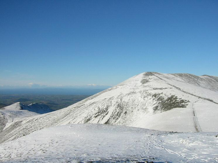 Skiddaw with Long Side and Ullock Pike on the far right from Little Man