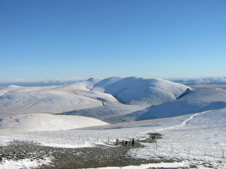 Blencathra from where the Little Man path rejoins the main 'highway' to Skiddaw