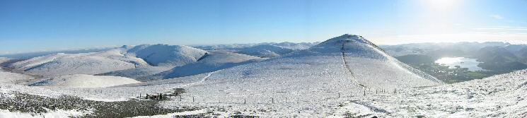 Southerly panorama from the ascent of Skiddaw
