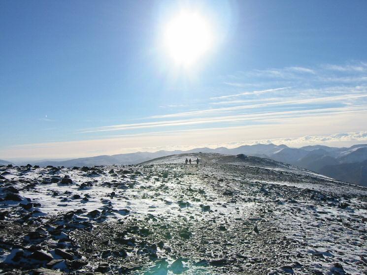 Looking back south along Skiddaw's summit ridge