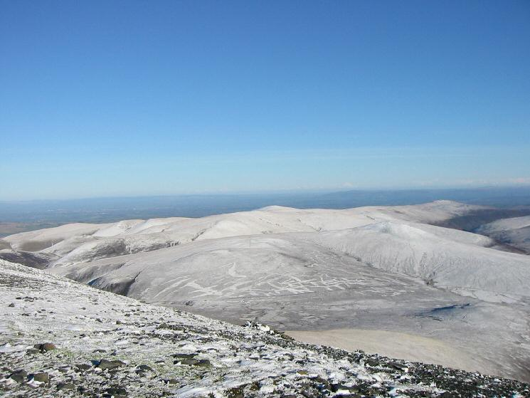 Knott and Great Calva from Skiddaw's summit