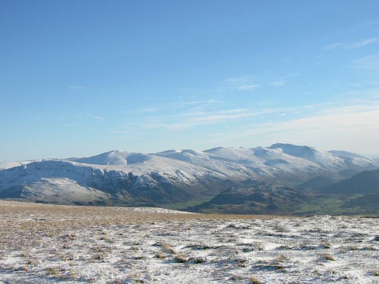 The Helvellyn range from Jenkin Hill