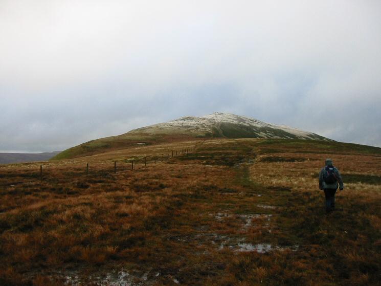 Heading for Great Calva's summit