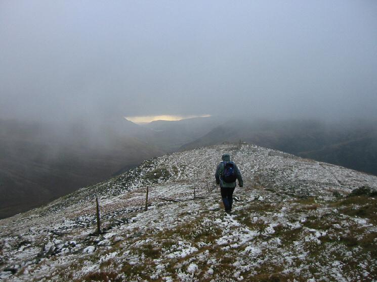 Heading towards Great Calva's south top
