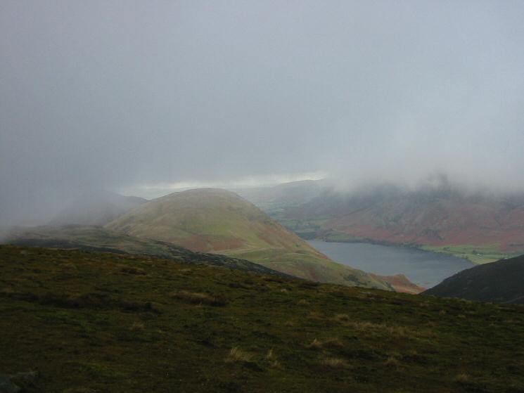 A glimpse of Mellbreak and Crummock Water