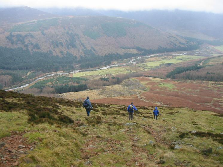 Heading down the High Gillerthwaite - Red Pike path