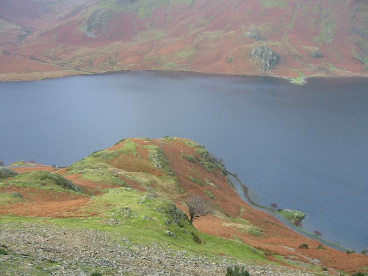 Looking back down on Hause Point and Crummock Water