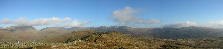 Northerly panorama from Wansfell Pike's summit