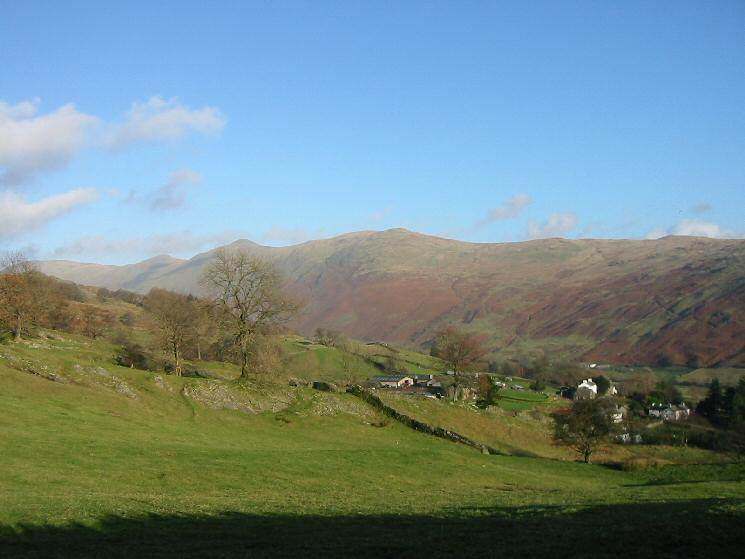 The Ill Bell ridge from above Troutbeck