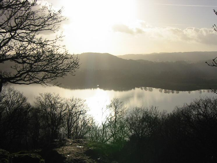 Looking across Windermere to Latterbarrow from the top of Jenkins Crag