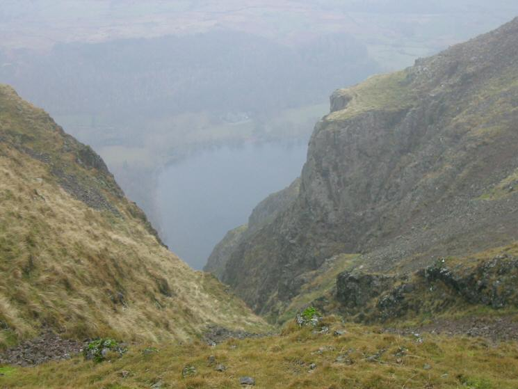 Looking down on the foot of Wastwater