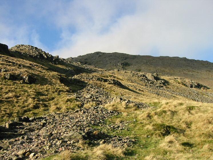 Looking back up towards the summit