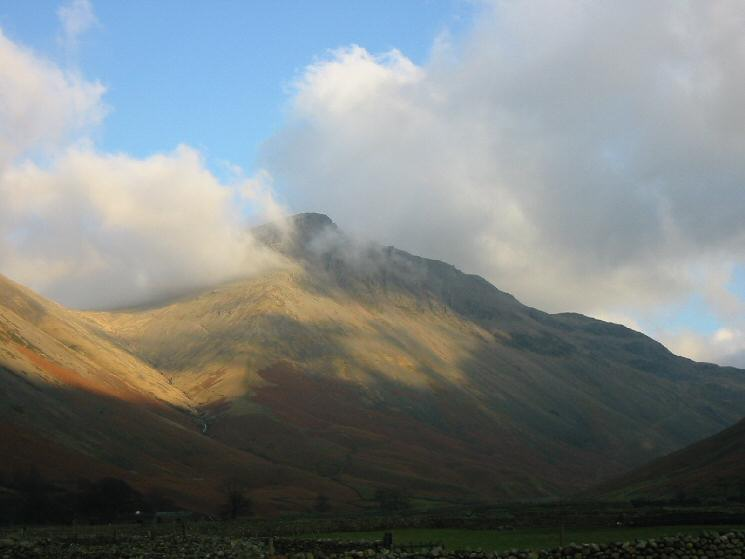Great Gable from the Wasdale Head Inn