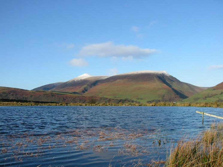 Skiddaw Little Man and Lonscale Fell from Tewet Tarn