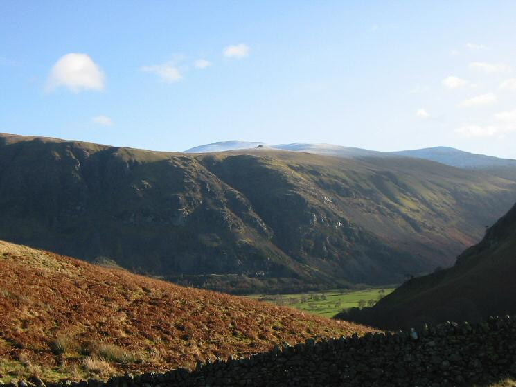 Looking across St John's in the Vale to Calfhow Pike