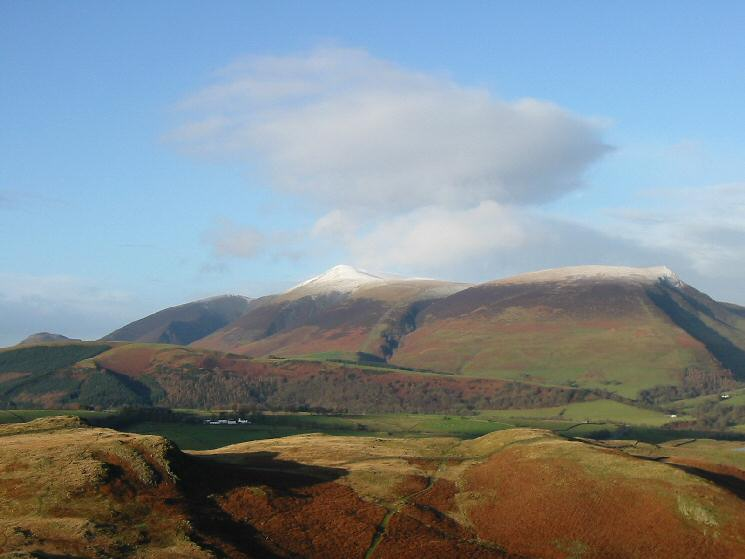Looking over Low Rigg to the Skiddaw fells
