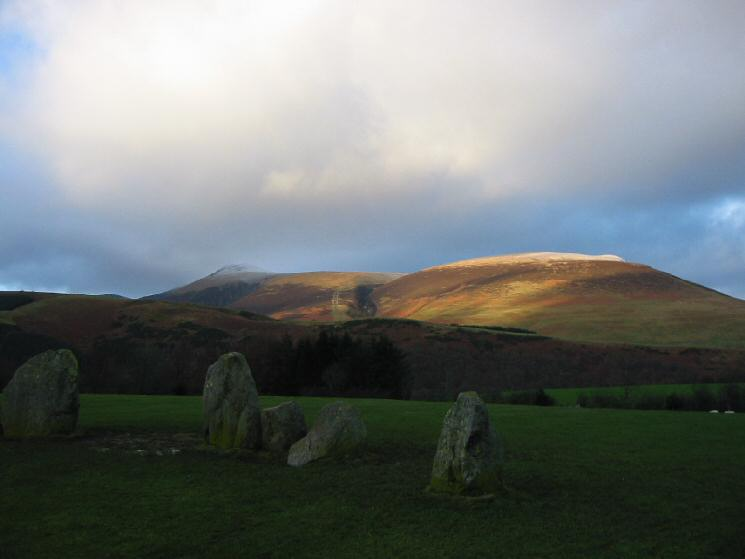 Lonscale Fell from Castlerigg Stone Circle