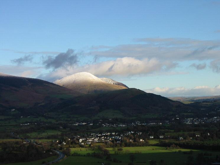 Looking across the Vale of Keswick to Blease Fell